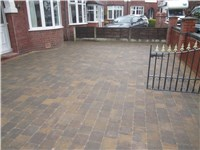 Tegula trio paving main colour is bracken with a golden border beautiful combination